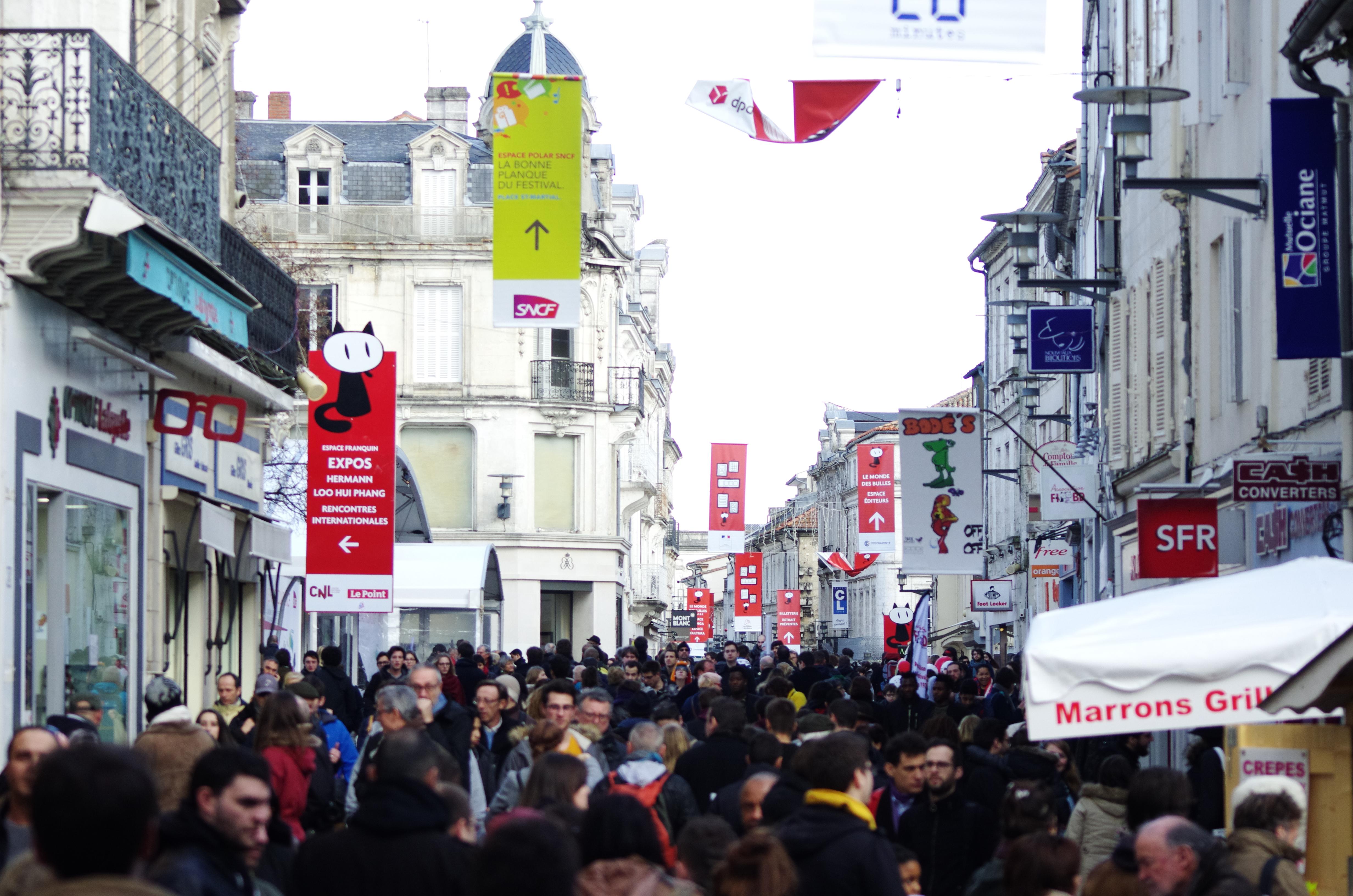 Le centre ville d'Angoulême
